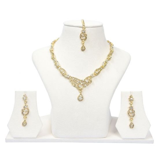 Beads India Winter White Necklace Set 290916