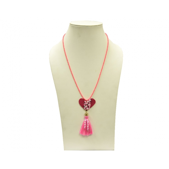 Beads India Begonia Pink 16112016 Necklace