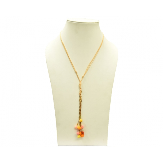Beads India Tangerine 16112016 Necklace