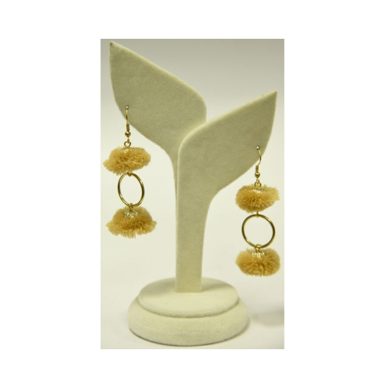 Beads India Beige 22112016 Earrings