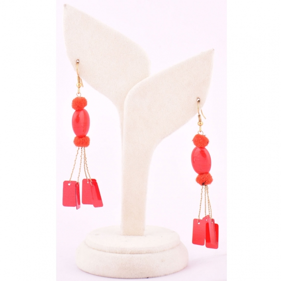 Beads India Red Clay 1404456 Earrings