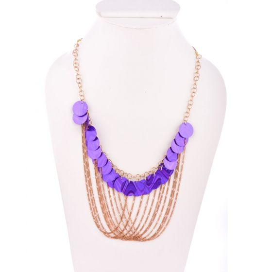 Beads India Patrician Purple 1404476 Necklace