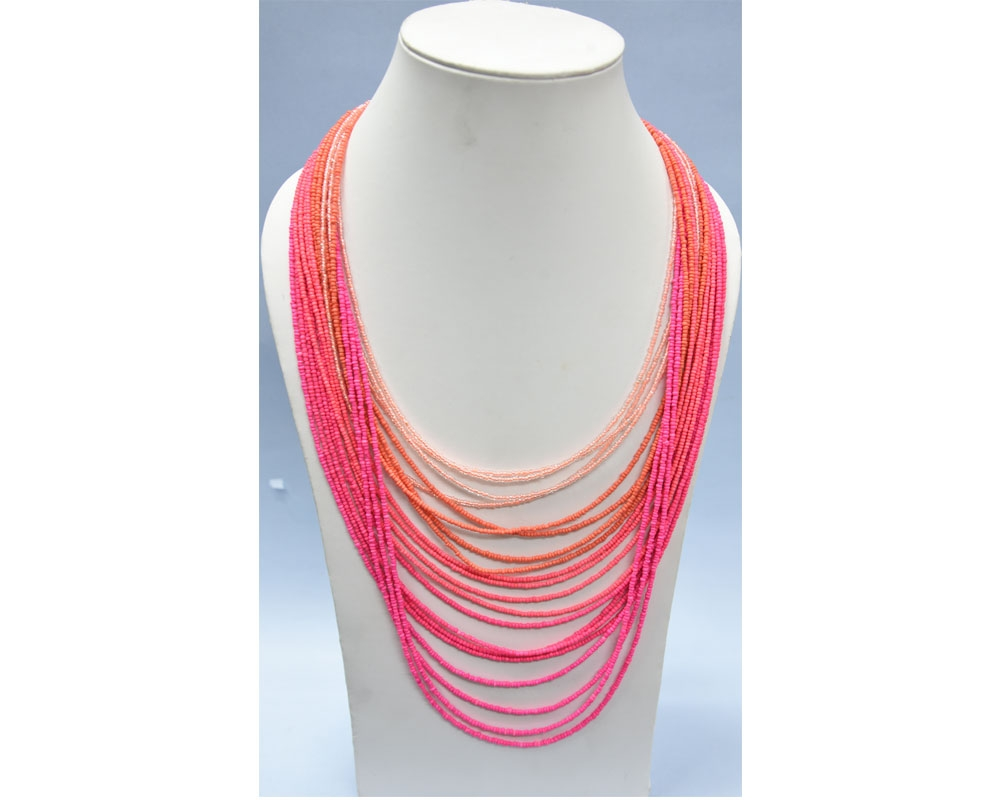 Beads India Azalea Pink 03112016 Necklace