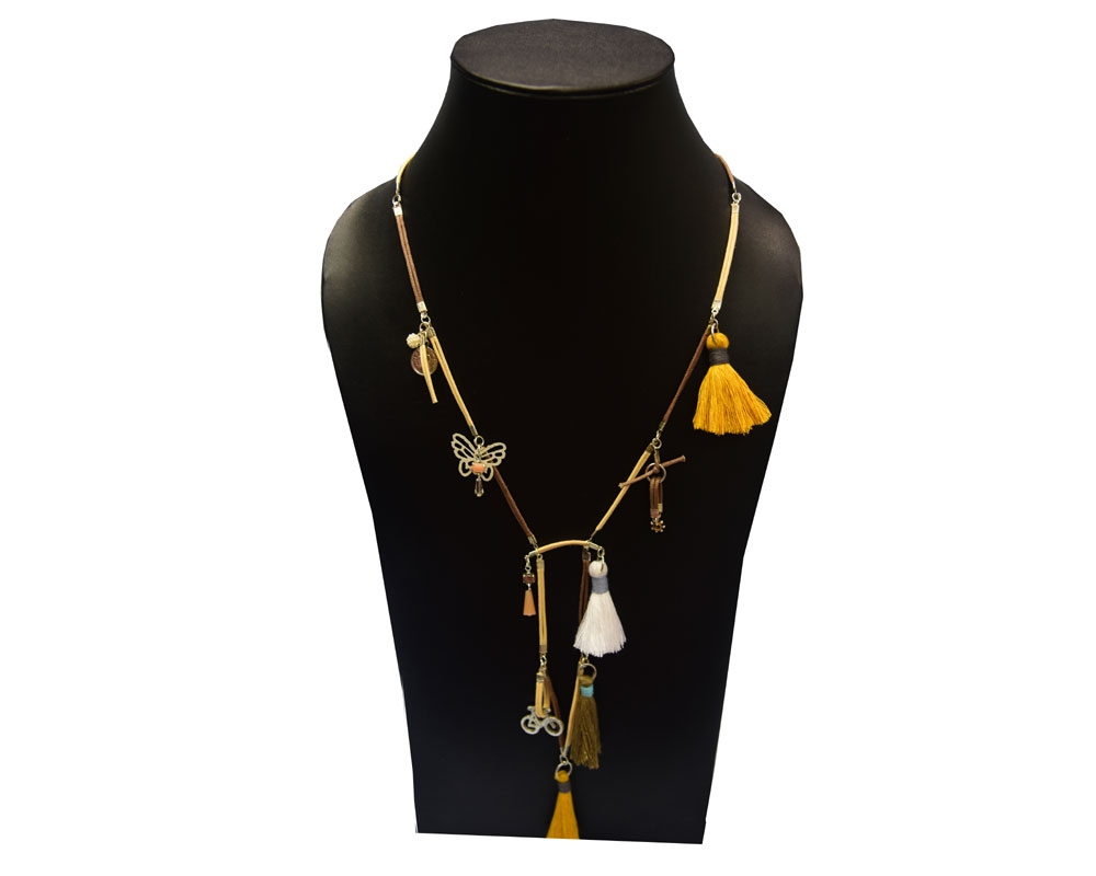 Beads India Bone Brown 21102016 Necklace