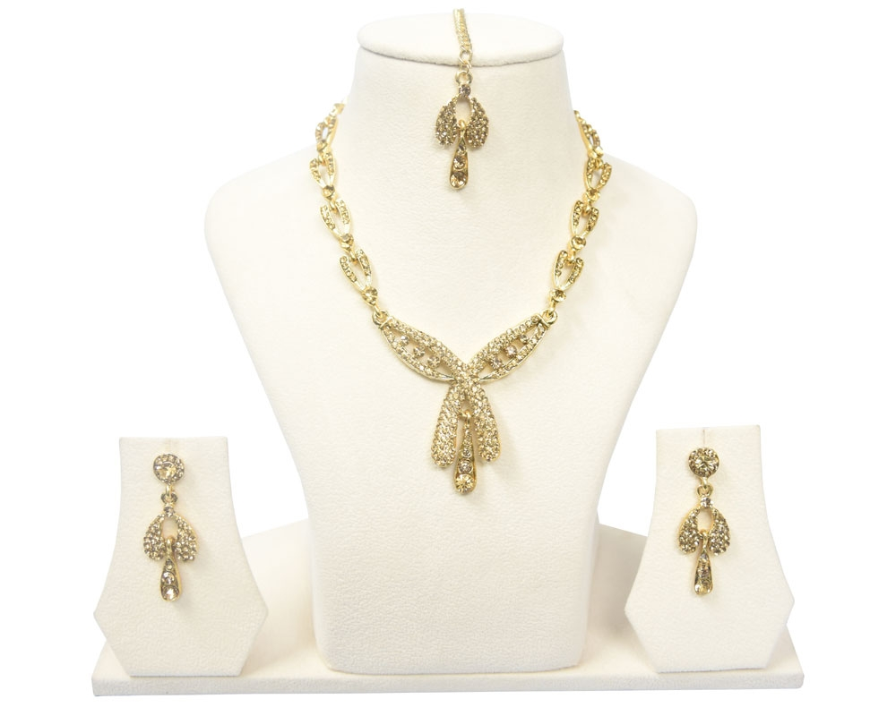 Beads India Mellow Yellow Necklace Set 300916