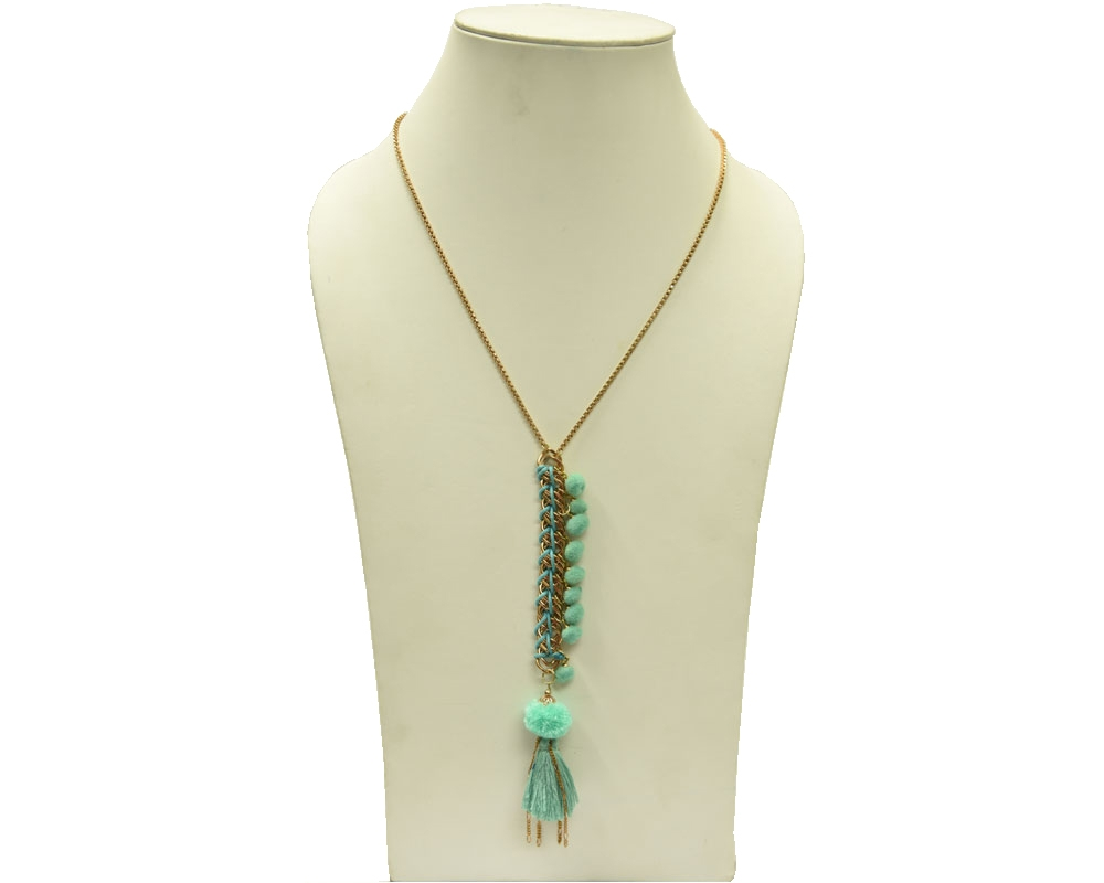 Beads India Aqua Haze 12112016 Necklace