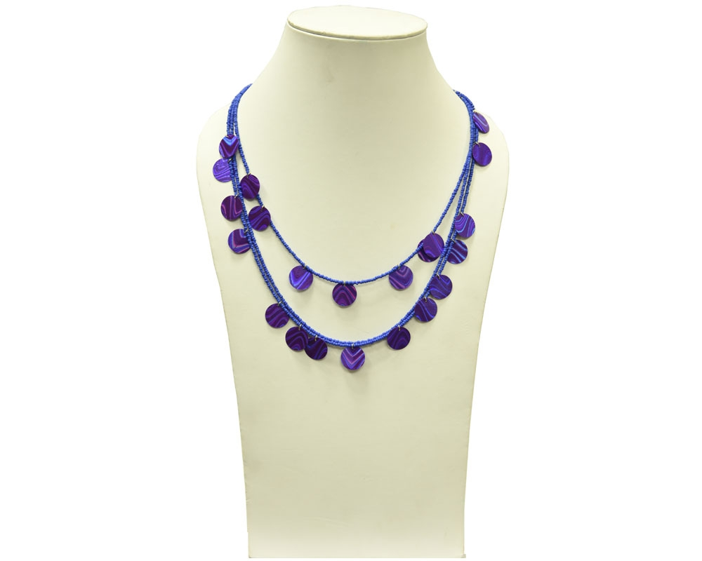 Beads India Amparo Blue 1404346 Necklace