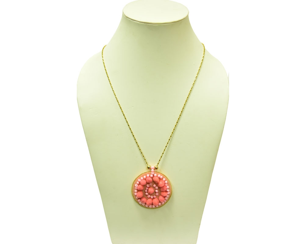 Beads India Geranium Pink 1404380 Necklace