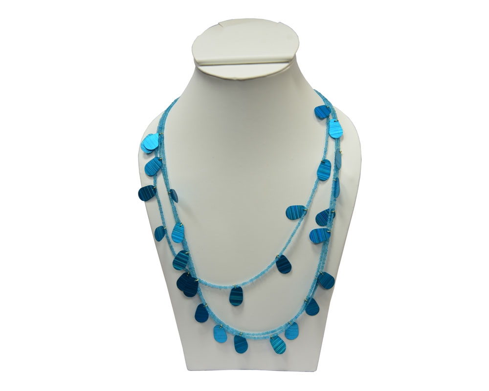 Beads India Azure Blue 1404387 Necklace