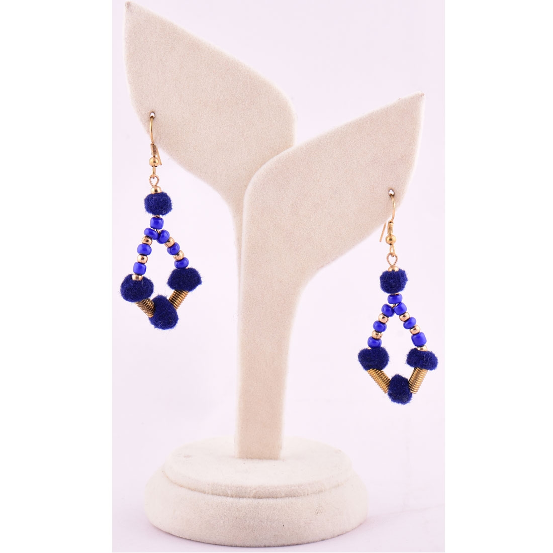 Beads India Blue print 1404447 Earrings