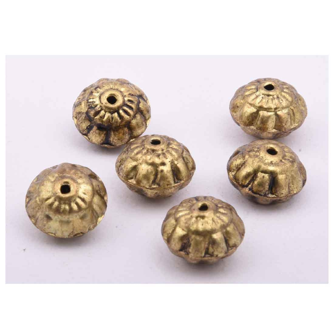 Beads India 1700045  Handcrafted Metal Beads/Discounts Above 500 pcs