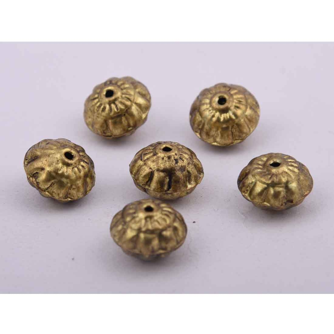 Beads India 1700054  Handcrafted Metal Beads/Discounts Above 500 pcs