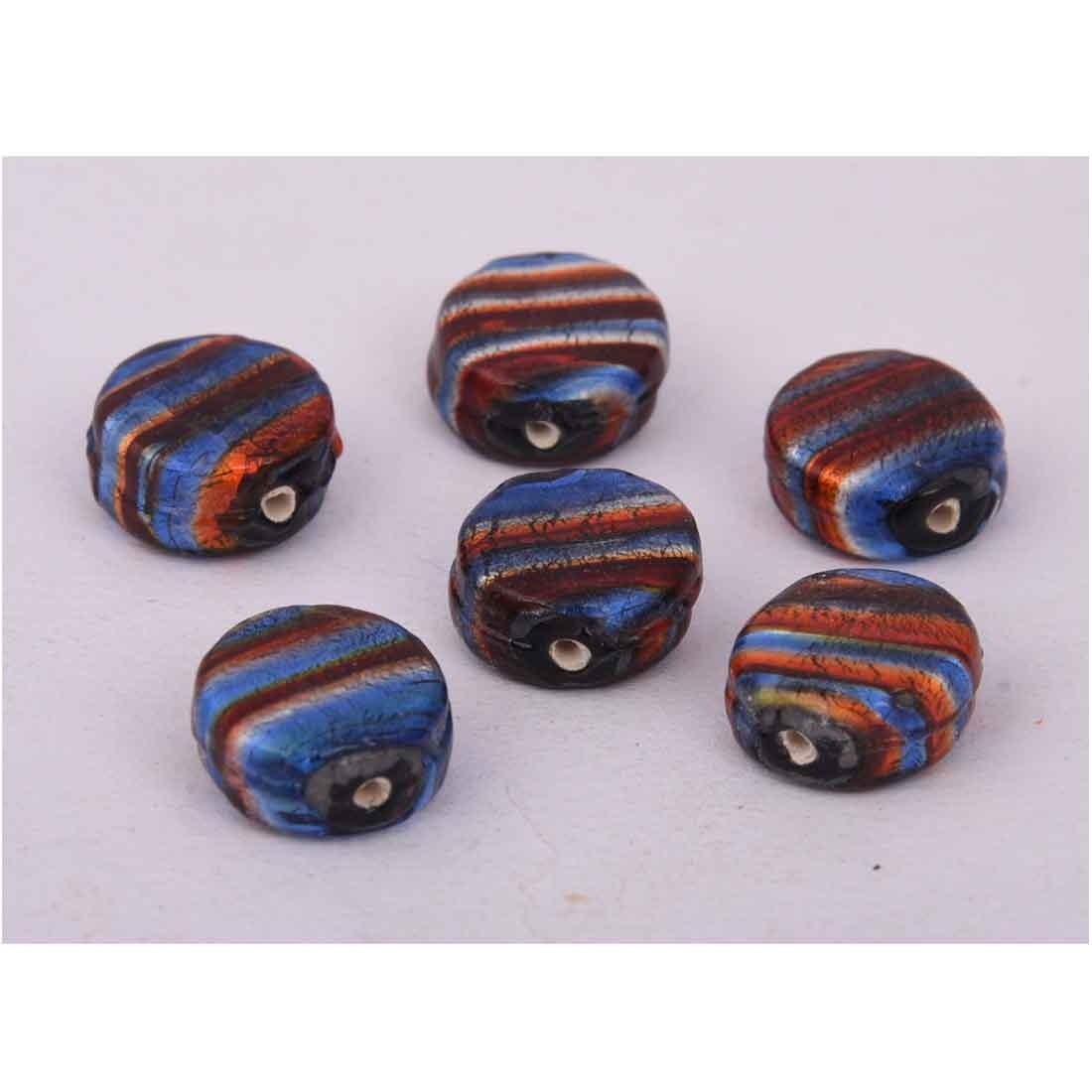 Beads India 1700071 Lampwork Handcrafted Glass Beads/Discounts Above 500 pcs