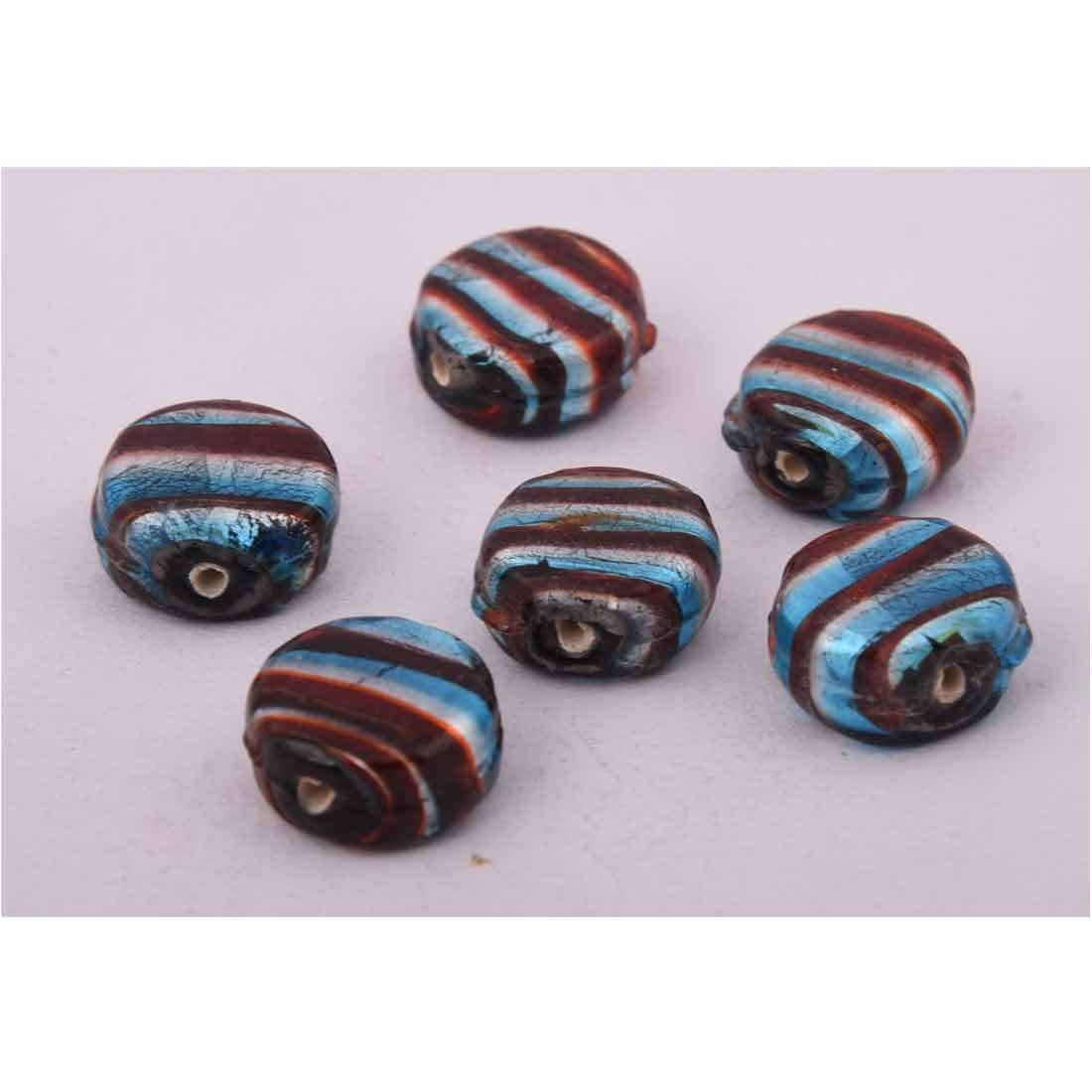 Beads India 1700075 Lampwork Handcrafted Glass Beads/Discounts Above 500 pcs
