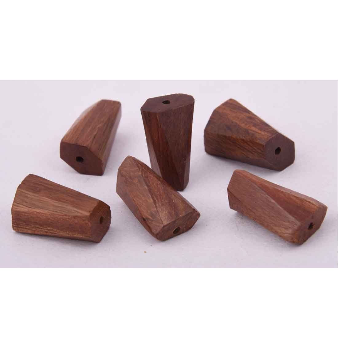 Beads India 1700097 Handcrafted Wooden Beads/Discounts Above 500 pcs