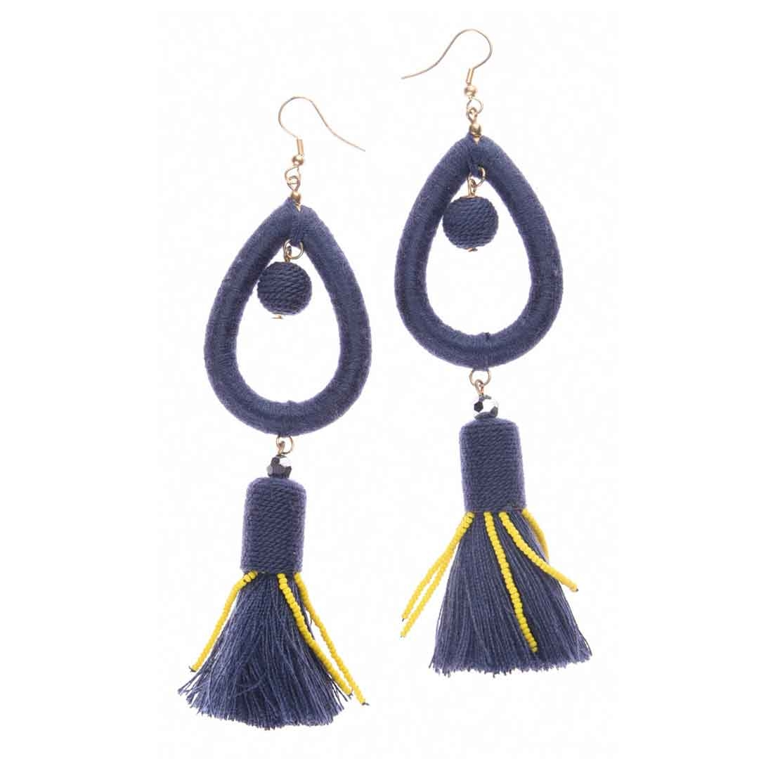 Beads India Tear Drops Tassel Girls & Women 1405194 Earrings