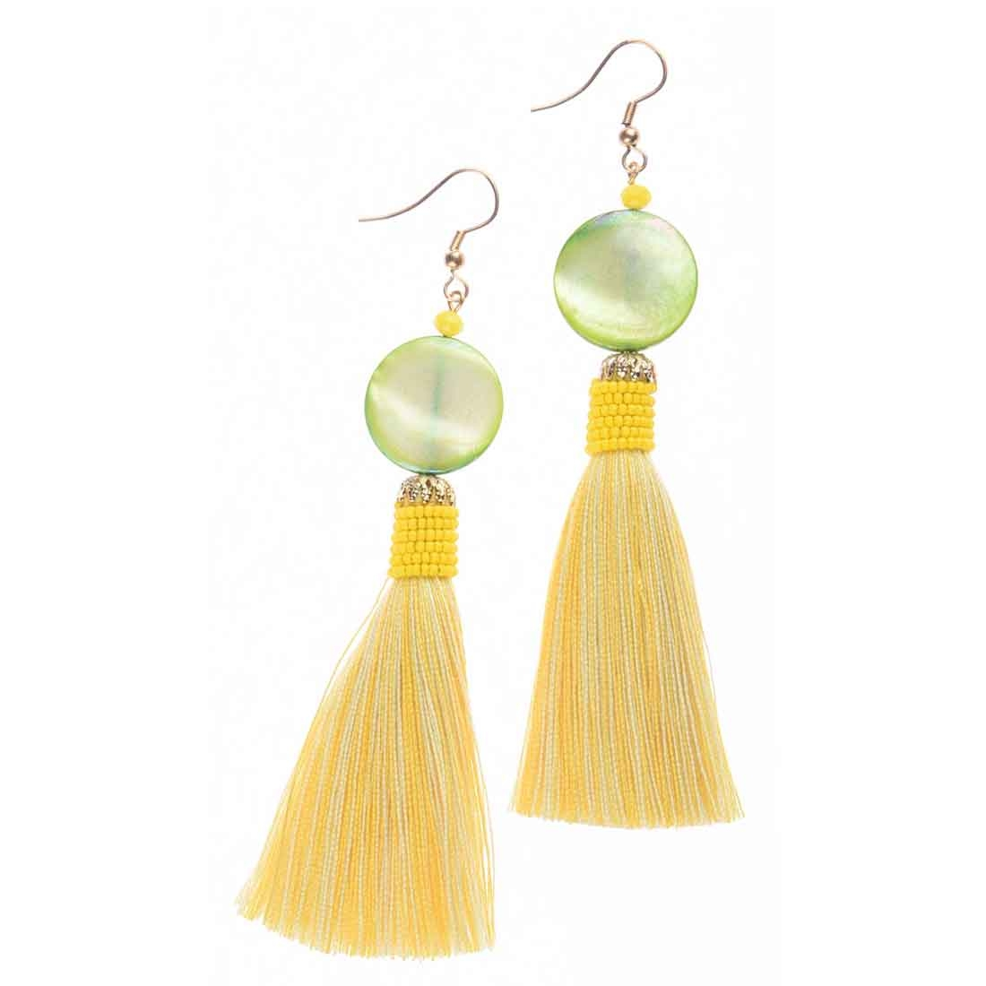 Beads India Tassel Shell Girls & Women 1405389 Earrings