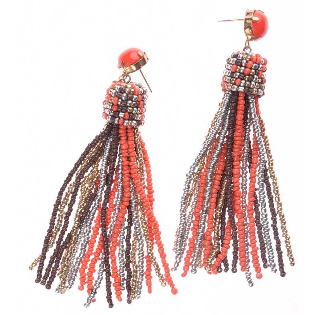Beads India Beaded Tassel Girls & Women 1405390 Earrings