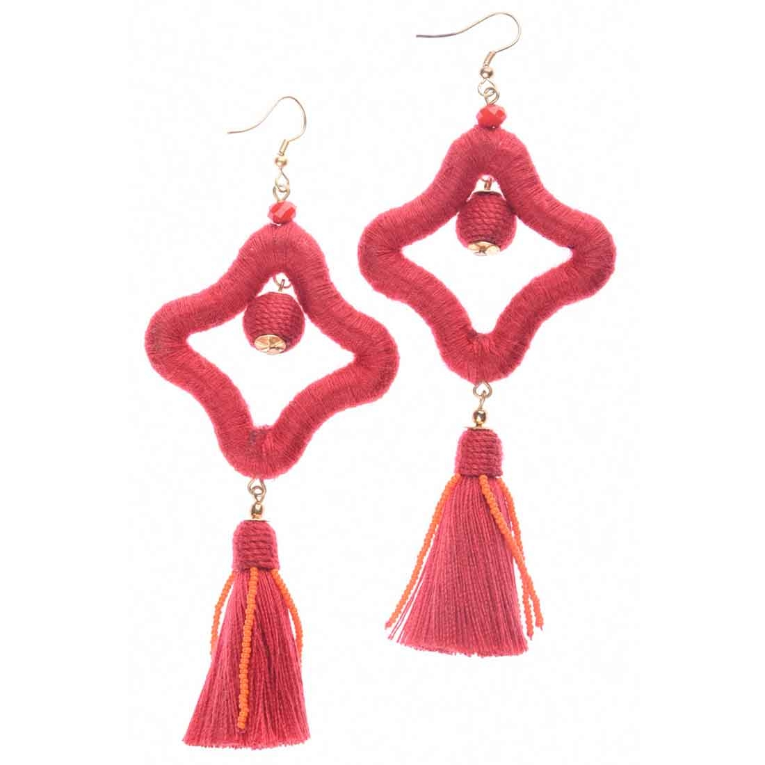 Beads India Star Tassel Girls & Women 1405400 Earrings