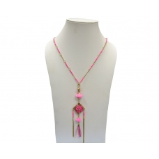 Beads India Pink Carnation 23102016 Necklace