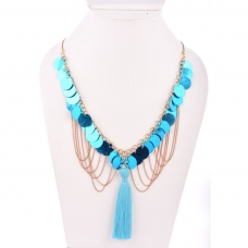 Beads India Strom Blue  1404480 Necklace