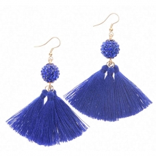 Beads India Three Tassel Ball Girls & Women 1405394 Earrings