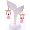 Beads India Peach Blue 1404506 Earrings