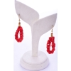 Beads India Ribbon Red 1404518 Earrings